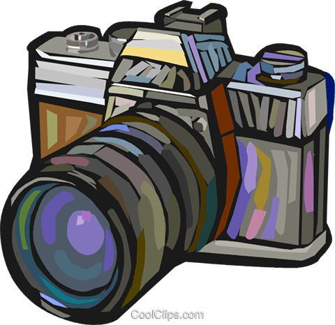 35mm camera Royalty Free Vector Clip Art illustration vc027887