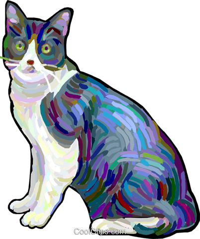 house cat Royalty Free Vector Clip Art illustration vc027890