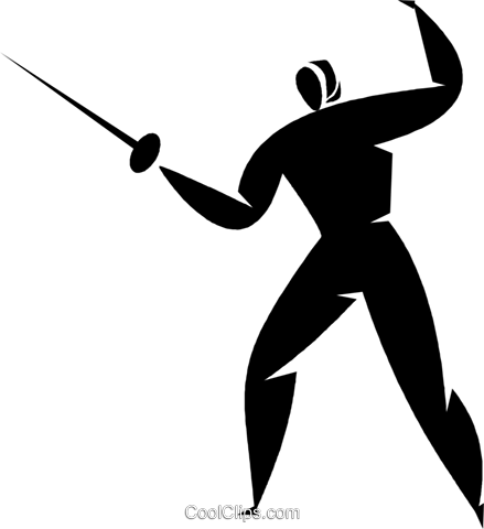 Foilsmen fencing Royalty Free Vector Clip Art illustration vc027892