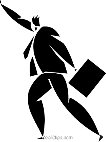 businessman hailing a cab Royalty Free Vector Clip Art illustration vc027893
