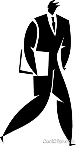 businessman Royalty Free Vector Clip Art illustration vc027900