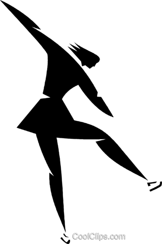 figure skater Royalty Free Vector Clip Art illustration vc027909