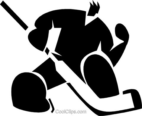 Goalie making a save Royalty Free Vector Clip Art illustration vc027911