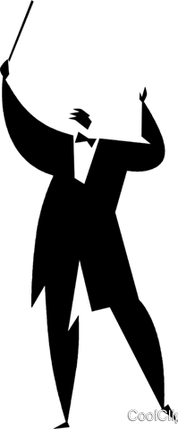 conductor Royalty Free Vector Clip Art illustration vc027912