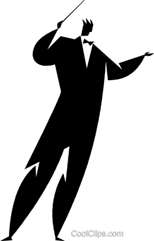 conductor Royalty Free Vector Clip Art illustration vc027921