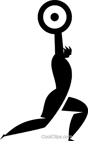 weightlifter Royalty Free Vector Clip Art illustration vc027938