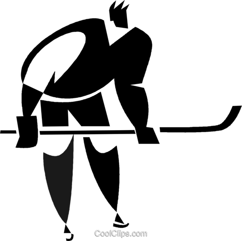 hockey player Royalty Free Vector Clip Art illustration vc027942