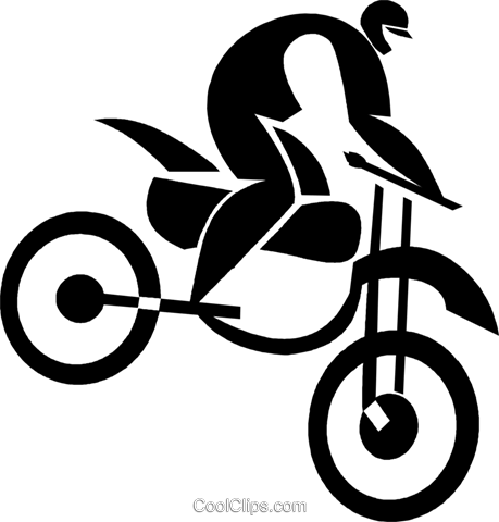person on a dirt bike Royalty Free Vector Clip Art illustration vc027953