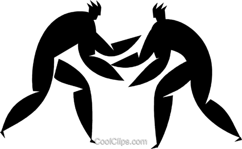 wrestling Royalty Free Vector Clip Art illustration vc027955