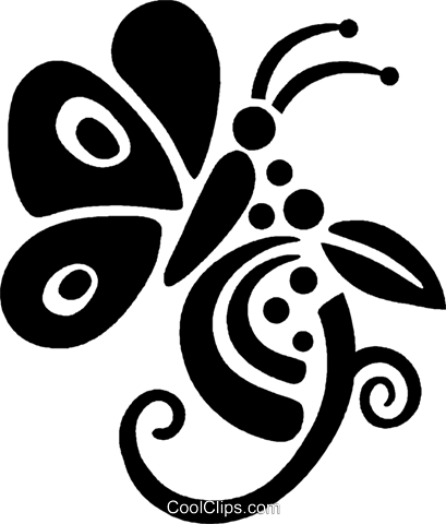 butterflies Royalty Free Vector Clip Art illustration vc027971