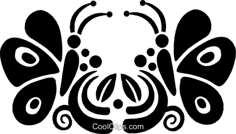 butterflies Royalty Free Vector Clip Art illustration vc027974