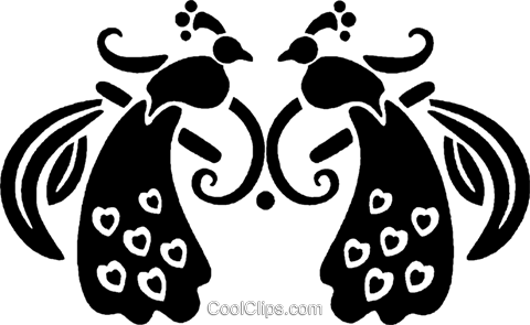 peacock Royalty Free Vector Clip Art illustration vc027975