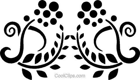 decorative floral design Royalty Free Vector Clip Art illustration vc027979