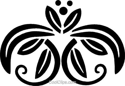 decorative floral design Royalty Free Vector Clip Art illustration vc027981