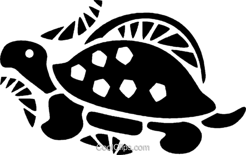 turtle Royalty Free Vector Clip Art illustration vc028002