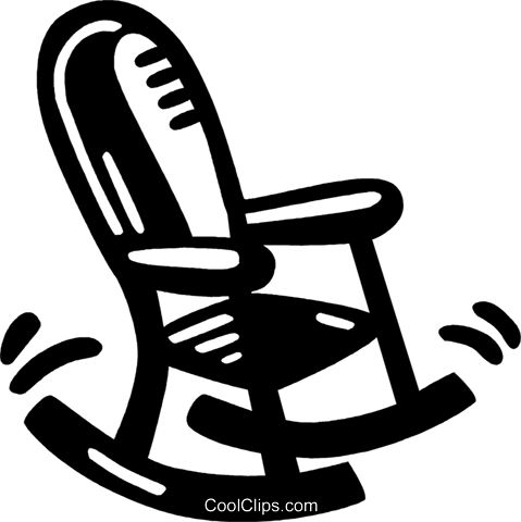 rocking chair Royalty Free Vector Clip Art illustration vc028029