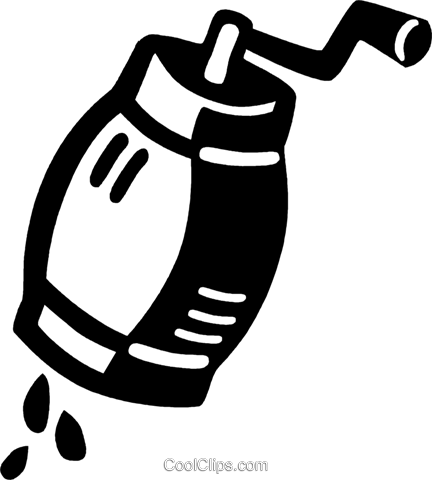 salt/pepper grinder Royalty Free Vector Clip Art illustration vc028061