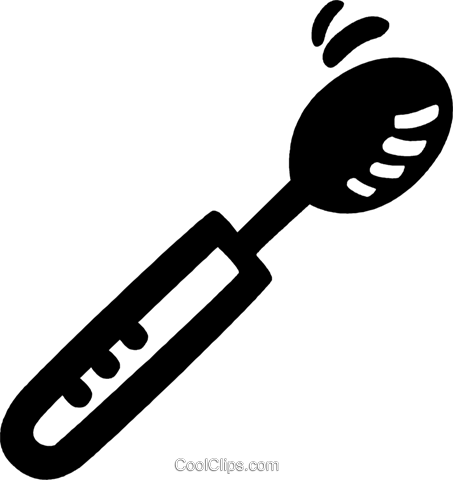 spoon Royalty Free Vector Clip Art illustration vc028067