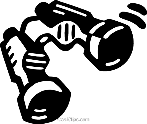 binoculars Royalty Free Vector Clip Art illustration vc028072