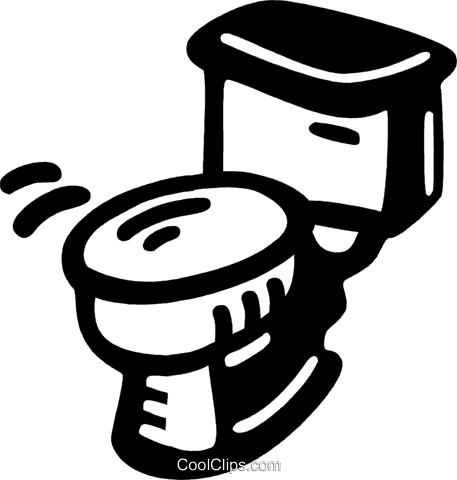 toilet bowl Royalty Free Vector Clip Art illustration vc028078