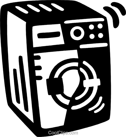 clothes dryer Royalty Free Vector Clip Art illustration vc028079