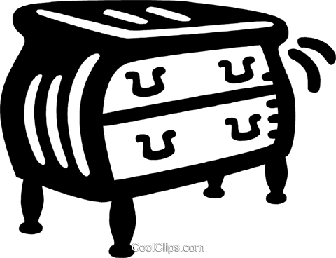 chest of drawers Royalty Free Vector Clip Art illustration vc028080