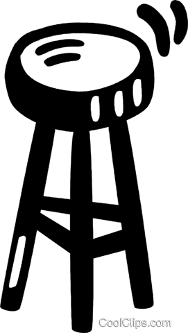 bar stools Royalty Free Vector Clip Art illustration vc028082