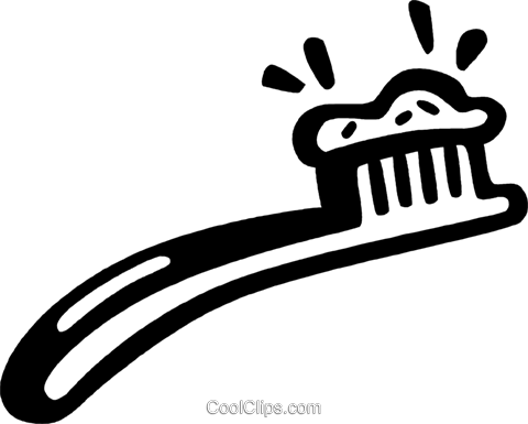 toothbrush Royalty Free Vector Clip Art illustration vc028090