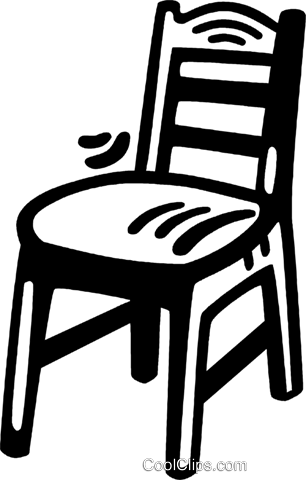 bedroom chair Royalty Free Vector Clip Art illustration vc028104