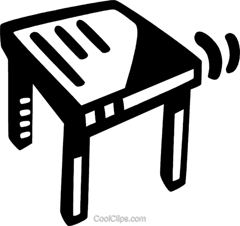 wooden table Royalty Free Vector Clip Art illustration vc028112