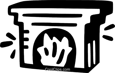 fireplace Royalty Free Vector Clip Art illustration vc028115