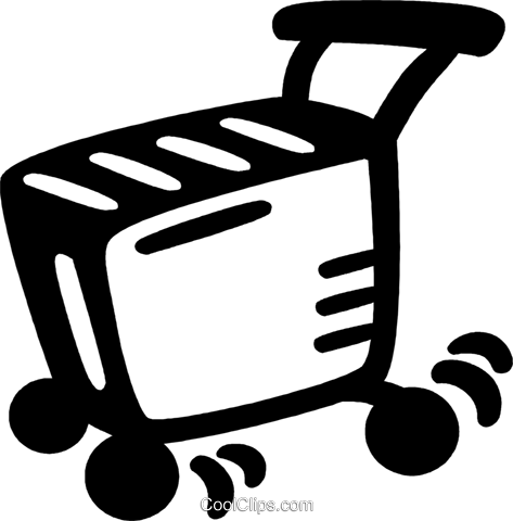 shopping cart Royalty Free Vector Clip Art illustration vc028133