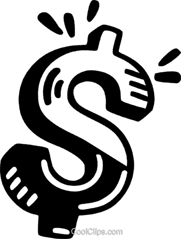 dollar sign Royalty Free Vector Clip Art illustration vc028135