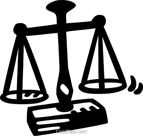 scales of justice Royalty Free Vector Clip Art illustration vc028144