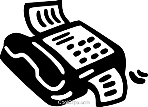 fax machine Royalty Free Vector Clip Art illustration vc028151