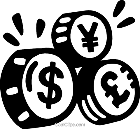currency symbols Royalty Free Vector Clip Art illustration vc028161