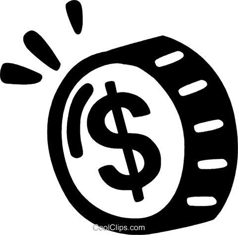 coin Royalty Free Vector Clip Art illustration vc028164