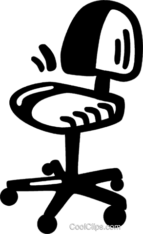 office chair Royalty Free Vector Clip Art illustration vc028165