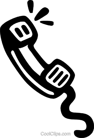 telephone receiver Royalty Free Vector Clip Art illustration vc028171