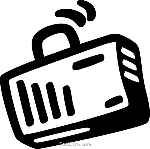briefcase Royalty Free Vector Clip Art illustration vc028173