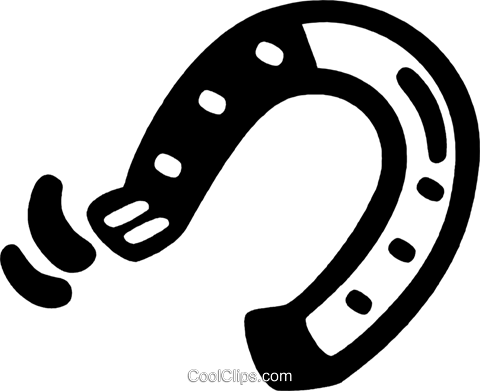 horseshoe Royalty Free Vector Clip Art illustration vc028177