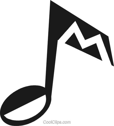 music note Royalty Free Vector Clip Art illustration vc028199