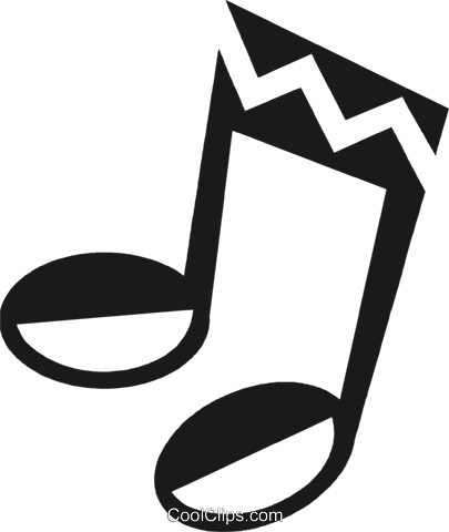 music note Royalty Free Vector Clip Art illustration vc028207