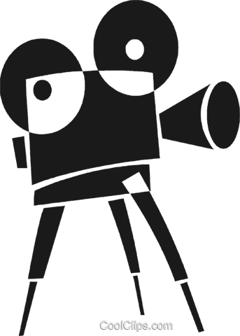 movie camera Royalty Free Vector Clip Art illustration vc028230