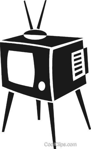 television set Royalty Free Vector Clip Art illustration vc028239