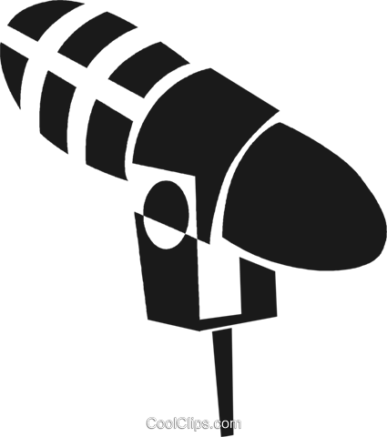 microphone Royalty Free Vector Clip Art illustration vc028240