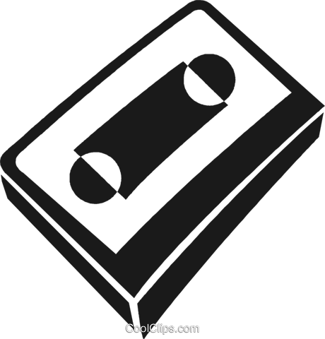 cassette tape Royalty Free Vector Clip Art illustration vc028241