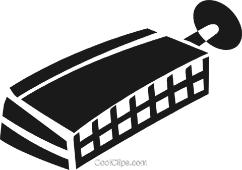 harmonica Royalty Free Vector Clip Art illustration vc028246