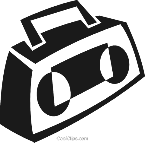 ghetto blaster Royalty Free Vector Clip Art illustration vc028251