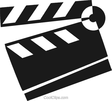 clapper board Royalty Free Vector Clip Art illustration vc028255